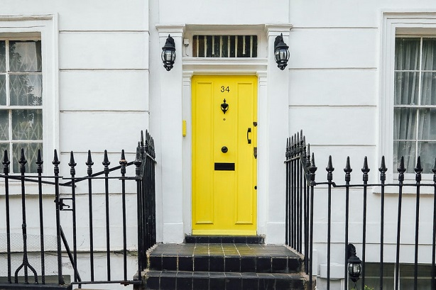 front door with letterbox