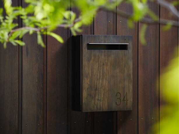 wooden letterbox