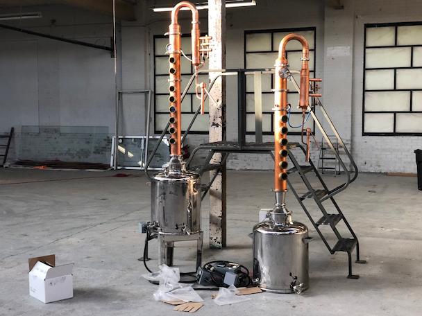 distilling proccess
