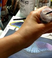 pigment powder painting