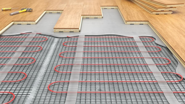placing underfloor heating