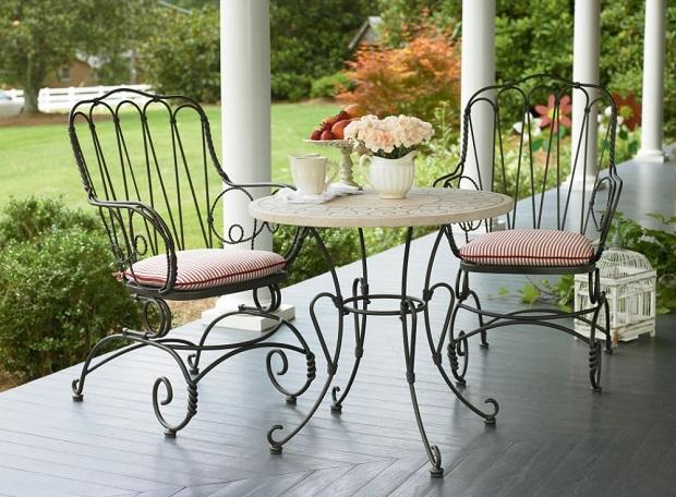 Beautiful metal outdoor furniture