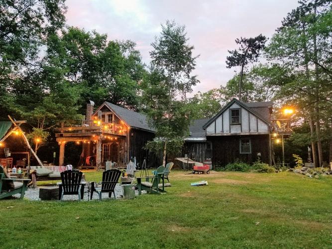 Lighting in backyard
