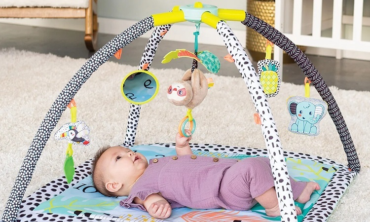 picture of a baby on a play mat