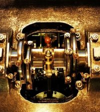 close-up of crankshaft
